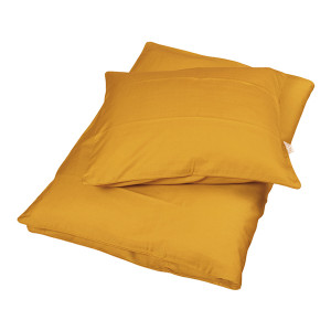 Filibabba sateen sengetøj | Golden mustard baby og junior sengetøj