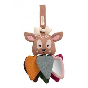 Filibabba Bea the bambi – brun aktivitetslegetøj m/snor