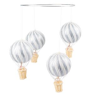 4pcs 10cm Air Balloon Set (Uro) Silver - FI-SS017