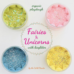The Wild Hearts økologisk modellervoks sæt - Fairies & unicorns