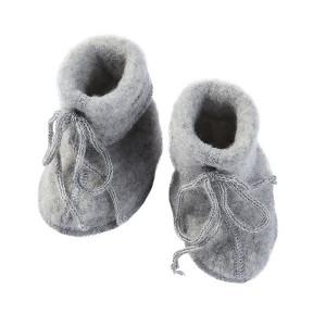 Uldfleece baby futter i grå - Engel