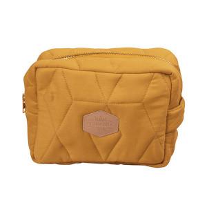 Filibabba lille toilettaske quiltet golden mustard