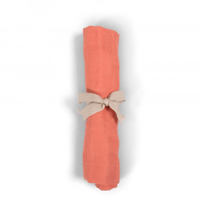 Filibabba muslin stofble GOTS - Coral