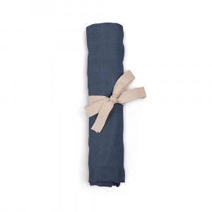Filibabba muslin stofble GOTS - Muddly blue