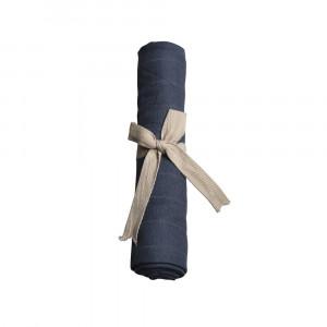 Filibabba muslin stofble blue