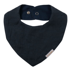 Muslin Bib - Dark Blue
