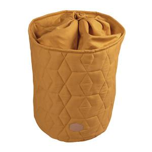 Filibabba opbevaringskurv med lukning - golden mustard