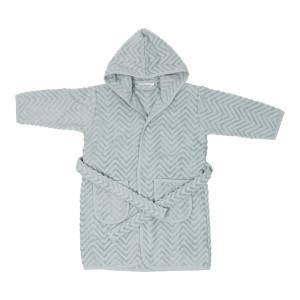 Baby badekåbe Zigzag Green - 1-2 år