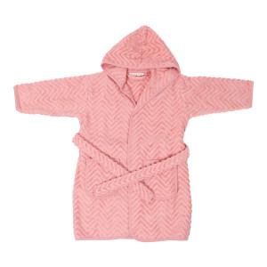Baby badekåbe Zigzag Rose - 1-2 år
