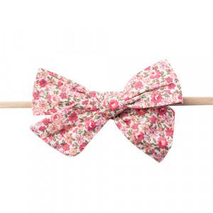 Gry - hårbånd m. sløjfe pink small flowers