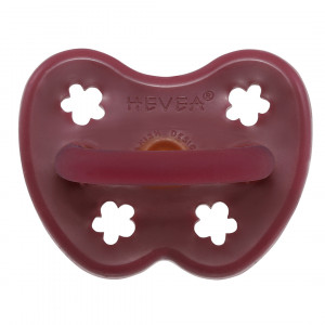 Hevea ruby sut 3-36 mdr. ortodontisk af naturgummi med blomster motiv