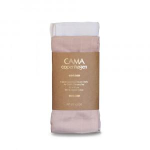 CAMA Copenhagen 2-pak muslin stofbleer rosa/hvid til pusletasken