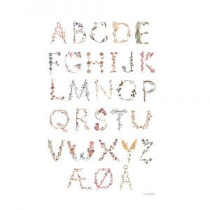 Mushie Alfabet Plakat