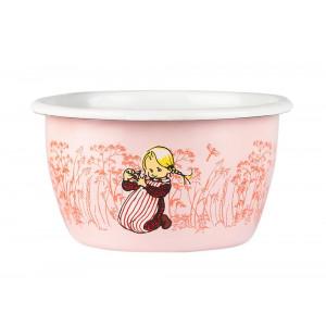 Emalje skål 3dl Ida, pink