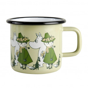 Mumi Friends emalje krus 3,7dl, green (Mumi&Snufkin)
