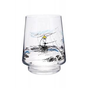 Mumi Originals glaslygte/vase 20cm, gone fishing