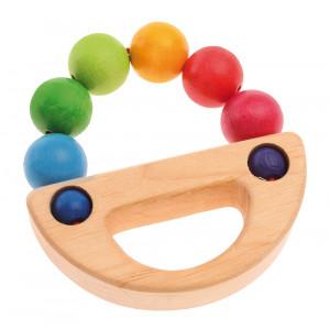 Grimms gribering m/håndtag og regnbuefarvet træperler