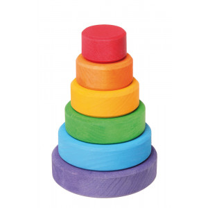 Grimms lille stabeltårn i regnbuefarver
