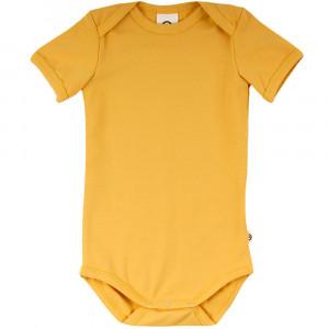 Cozy me ensfarvet gul kortærmet body