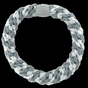Hårelastik - multi grey, blue & silver glitter