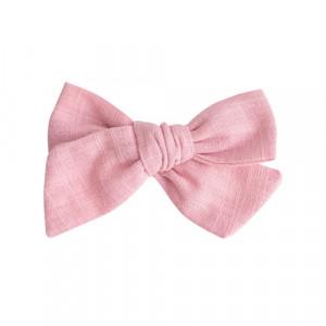 Elvira - hørsløjfe m. spænde rosa