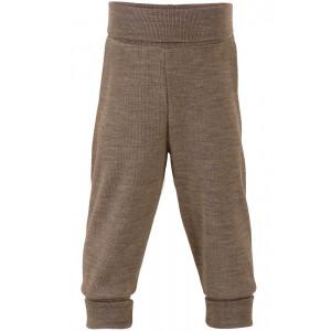 Engel uld/silke bukser til baby med taljerib - Valnød