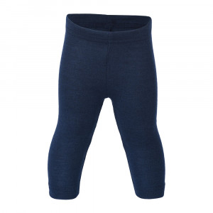 Engel uld/silke leggings - Navy/blå