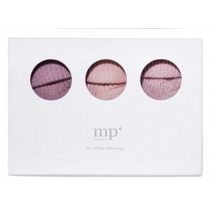 MP 3-paks baby strømpesæt i gaveæske multifarvet til piger
