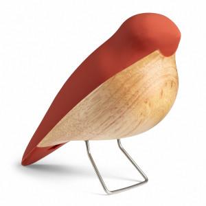 Nattergalen design træfigur m/terracotta ryg fra H. C. Andersens eventyr