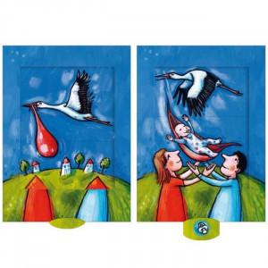 Storken - postkort