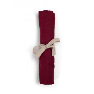 Filibabba muslin stofble GOTS - Deeply red