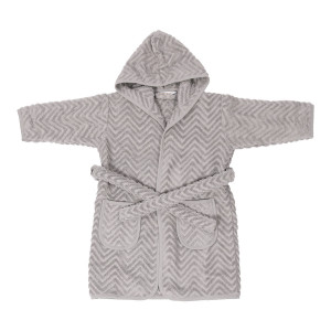 Filibabba baby badekåbe Zigzag Grey - 1-2 år