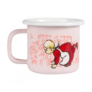 Ida fra Lønneberg emalje krus 1,5 dl, pink